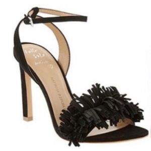 BANANA REPUBLIC HONEY FRINGE HEELS